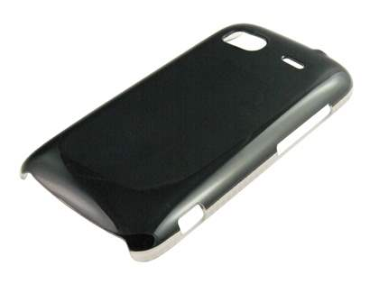 Glossy Slim Case for HTC Sensation - Black