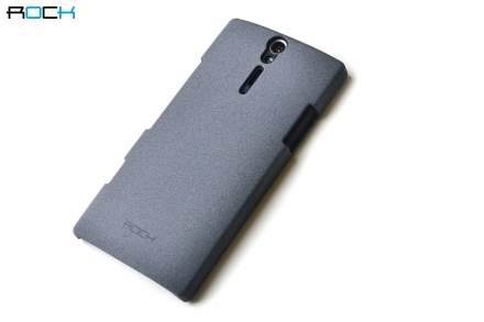 ROCK Quicksand Sand Blasted Hard Case for Sony Xperia S LT26i - Slate Grey Hard Case