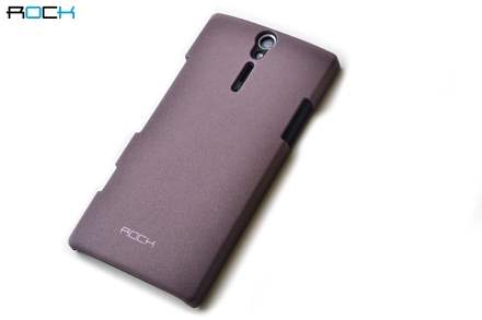 new arrival 273c7 f08dc ROCK Quicksand Sand Blasted Hard Case for Sony Xperia S LT26i - Puce