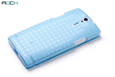 The Rock Magic Cube Frosted Case plus Screen Protector for Sony Xperia S LT26i - Light Blue