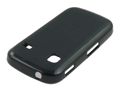 Frosted TPU Case for Samsung Galaxy Gio S5660 - Classic Black