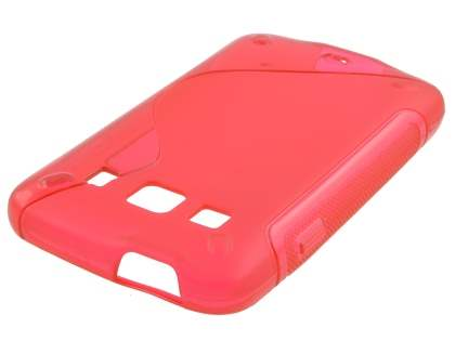 Samsung Galaxy Xcover S5690 Wave Case - Frosted Red/Red