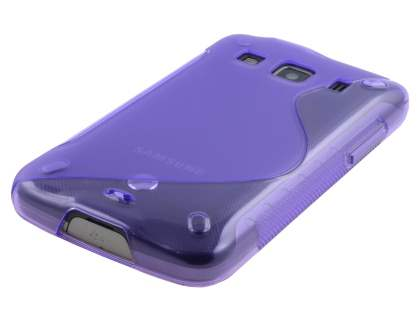 Samsung Galaxy Xcover S5690 Wave Case - Frosted Purple/Purple