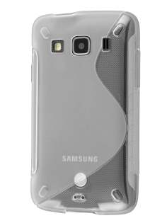 Samsung Galaxy Xcover S5690 Wave Case - Frosted Clear/Clear Soft Cover