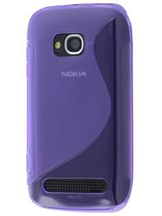 Nokia Lumia 710 Wave Case - Purple/Frosted Purple Soft Cover