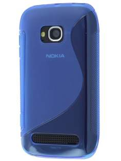 Nokia Lumia 710 Wave Case - Frosted Blue/Blue Soft Cover