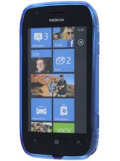 Nokia Lumia 710 Wave Case - Frosted Blue/Blue