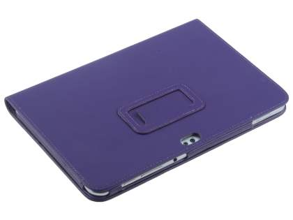 Synthetic Leather Flip Case with Fold-Back Stand for Samsung Galaxy Tab 8.9 4G - Purple