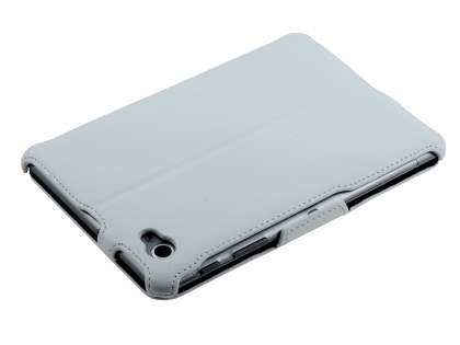 Premium Samsung Galaxy Tab 7.7 P6800 Slim Synthetic Leather Flip Case with Dual-Angle Tilt Stand - Pearl White