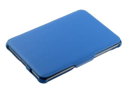 Premium Samsung Galaxy Tab 7.7 P6800 Slim Synthetic Leather Flip Case with Dual-Angle Tilt Stand - Sky Blue