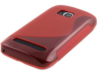 Nokia Lumia 710 Wave Case - Frosted Red/Red