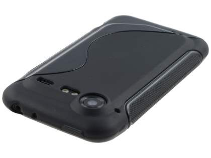 HTC Incredible S Wave Case - Frosted Black/Black