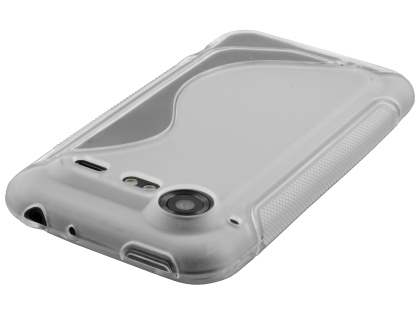 HTC Incredible S Wave Case - Frosted Clear/Clear