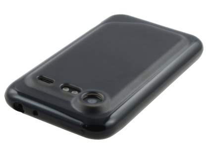 Dual-Design Case for HTC Incredible S - Black/Frosted Grey