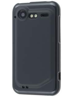 HTC Incredible S Frosted Colour TPU Gel Case - Black