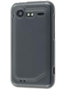 HTC Incredible S Frosted Colour TPU Gel Case - Frosted Grey