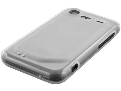 HTC Incredible S Frosted Colour TPU Gel Case - Frosted Clear