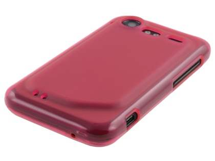 HTC Incredible S Frosted Colour TPU Gel Case - Frosted Red