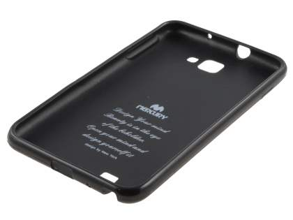 Mercury Glossy Gel Case for Samsung I9220 Galaxy Note - Black