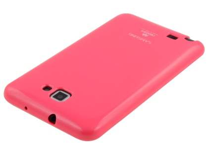 Mercury Glossy Gel Case for Samsung I9220 Galaxy Note - Hot Pink