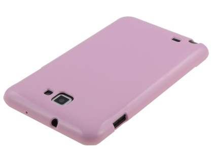 Samsung I9220 Galaxy Note Frosted Colour TPU Gel Case - Baby Pink
