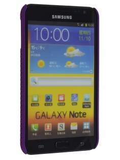 Samsung I9220 Galaxy Note Slim Mesh Case - Purple