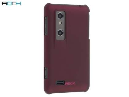 ROCK Nakedshell Rubberised Case for Optimus 3D P920 - Burgundy Red Hard Case
