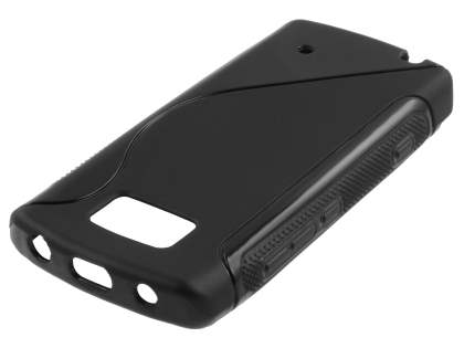 Nokia 700 Wave Case - Frosted Black/Black Soft Cover