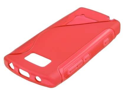 Nokia 700 Wave Case - Frosted Red/Red Soft Cover