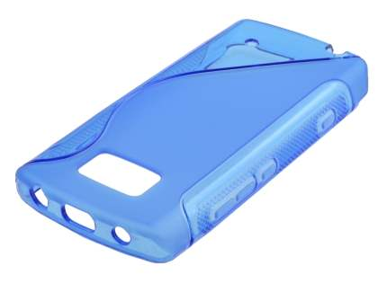 Nokia 700 Wave Case - Frosted Blue/Blue Soft Cover