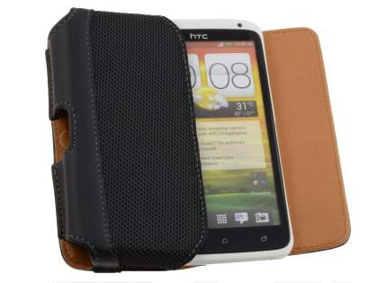 HTC One X / XL / X+ Synthetic Leather Belt Pouch (Naked Phone Only)