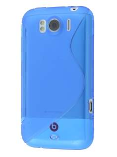 HTC Sensation XL Wave Case - Frosted Blue/Blue