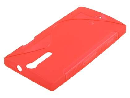 Sony Xperia S LT26i Wave Case - Frosted Red/Red