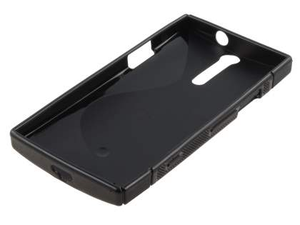 Sony Xperia S LT26i Wave Case - Black/Frosted Black