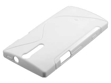 Sony Xperia S LT26i Wave Case - Pearl White