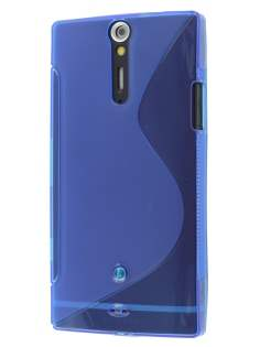 Sony Xperia S LT26i Wave Case - Frosted Blue/Blue Soft Cover