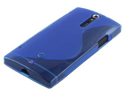 Sony Xperia S LT26i Wave Case - Frosted Blue/Blue