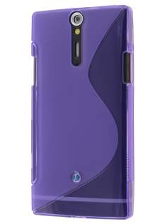Sony Xperia S LT26i Wave Case - Frosted Purple/Purple Soft Cover