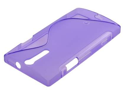 Sony Xperia S LT26i Wave Case - Frosted Purple/Purple