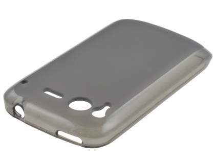 HTC Desire S Frosted Colour TPU Gel Case - Grey/Frosted Grey