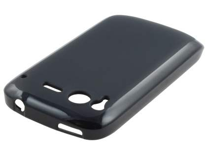 HTC Desire S Frosted Colour TPU Gel Case - Black