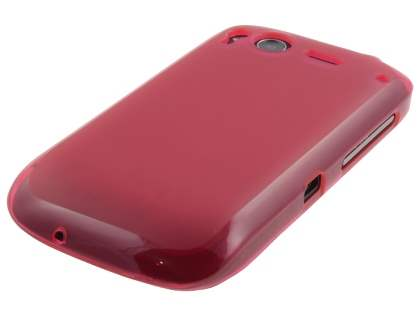 HTC Desire S Frosted Colour TPU Gel Case - Pink/Frosted Pink