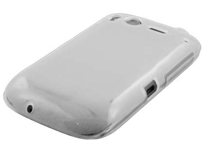 HTC Desire S Frosted Colour TPU Gel Case - Clear/Frosted Clear