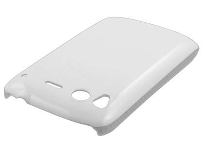 Glossy Slim Case for HTC Desire S - Pearl White