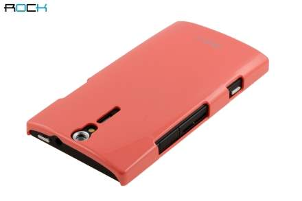 ROCK Nakedshell Glossy Colour Case for Sony Xperia S LT26i - Coral Pink