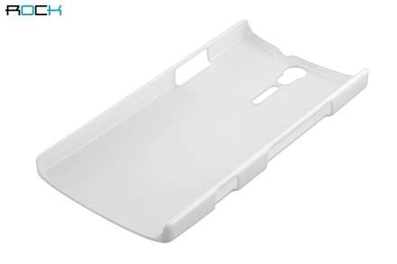 ROCK Nakedshell Glossy Colour Case for Sony Xperia S LT26i - Pearl White