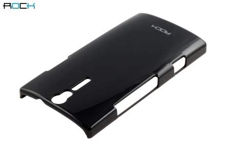 ROCK Nakedshell Glossy Colour Case for Sony Xperia S LT26i - Night Black