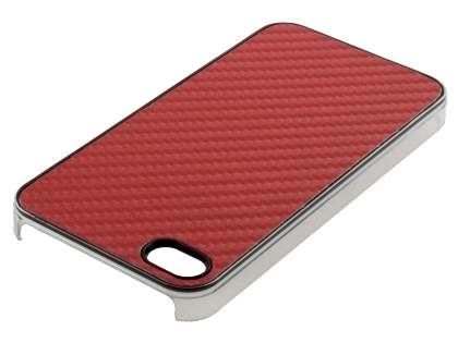 Designer Styled Back Case for iPhone 4 only - Red