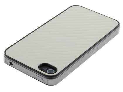 Designer Pattern Back Case for iPhone 4 only - Pearl White