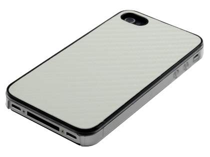 Designer Styled Back Case for iPhone 4 only - Pearl White